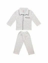 White NEW SIMPLE NIGHT SUIT FOR BOYS & GIRLS