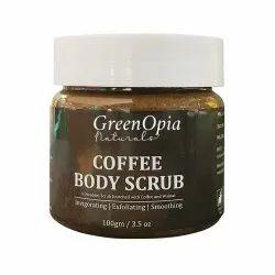 Cream GreenOpia Coffee Body Scrub, For Personal, Packaging Size: 100gm