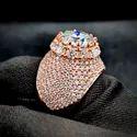 Gold Rings Moissanite Ring Round Brilliant Moissanite Ring Wedding Engagement Ring