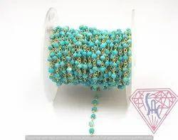 Turquoise Beaded Chain