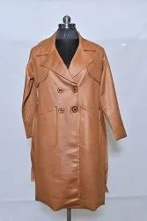 C703 Ladies Leather Long Jacket