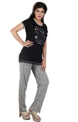 Casual Wear Full Length LPJS 003 Ladies T-Shirt