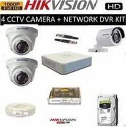 Combo Kit 4CH HD DVR 1 Bullet Cameras 2 Dome Cameras 1tb Hard Disc Wire Roll Supply