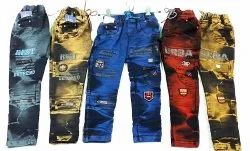 BLUE,RED AND YELLOW Loose Fit BOYS STYLISH DENIM PANT