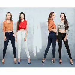 Skinny High Rise Ladies Denim Silky Jeans, Waist Size: 28-40 Inch