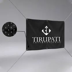 Black and White Polyester Fabric Banner for Advertising