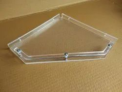 Acrylic Corner Shelf Diamond (10 Inches)