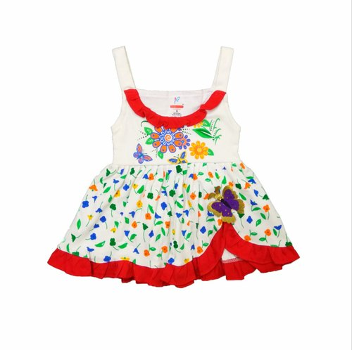 NEW COLORFUL SLEEVELESS SHORT FROCK FOR BABY GIRLS