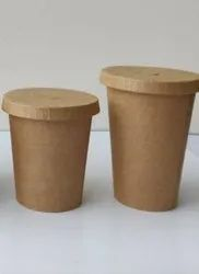 Kraft Paper Container Glass