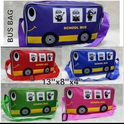Zipper Polyester Bus Bag, For Children Purpose, Size: 13 x 8 x 4 Cm