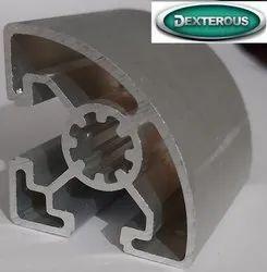 Aluminum Anodized 40x40R Mm Aluminium Profile, For Industrial, 10-15UM