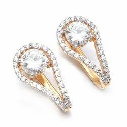 2.50 Ctw. Moissanite Diamond Hoop (Bali) Earrings In 18k Yellow Gold