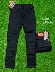Basic Black knitted jeans for mens, 28 To 34