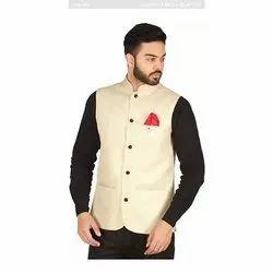 Party Plain Mens Cotton Waistcoat, Size: M-XXL