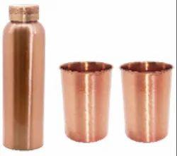 Copper Bottle/Glass