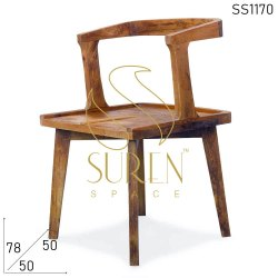 Suren Space Brown Solid Wood Indian Dining Chair, For Bar, Size: 50 X 50 X 78 Cm