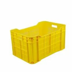 Yellow Multipurpose Plastic Crates