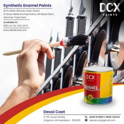 DCX Black Enamel Paint, For Metal, Packaging Type: Tin