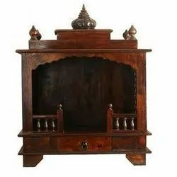 Brown Traditional Handcrafted Teak Wood Temple, For Worship