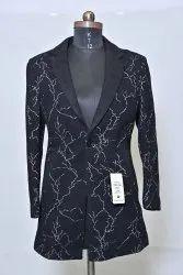 Black Ladies Woolen Jackets