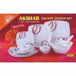 Akshar Square Lotus Fine Tableware Dinner Set