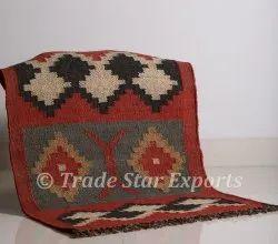 Handmade Wool Jute Rug Indian Hand Woven Rug Carpet 2x3 KIlim Rug Carpet