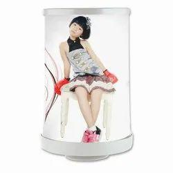 Photo Print LED Round Lamp