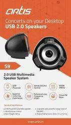 *ARTIS S9 Multimedia Speakar* 2.0 USB Multimedia Speakar *QTY AVAILABLE* *AGRESIVE RATE*