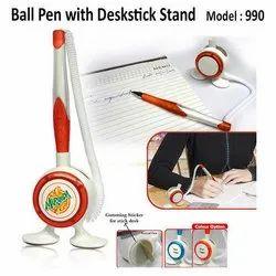 红色和蓝色塑料圆珠笔,用于促销,型号:990