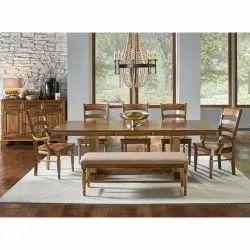 Malik Furniture Brown Wood Chair Dining Set