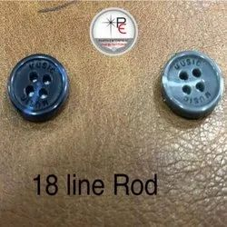 Polyester 18 Line Polyster Round Button, For Shirt, Packaging Type: Packet
