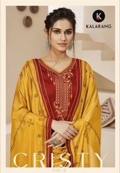 Kalarang Cristy Vol-2 Jam Silk Cotton Embroidery Work Suits Catalog