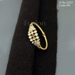 Kundan Meenakari Openable Brass Bracelet Kada