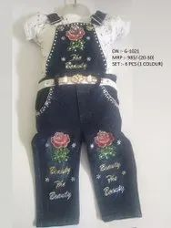 NEW FASHIONABLE DENIM DANGRI SET FOR GIRLS