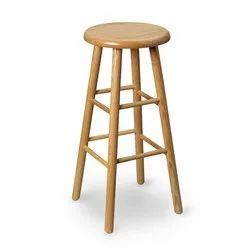 Brown Solid Wood Stool