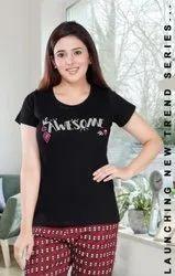 Tatsat Half Sleeve Ladies Printed T Shirt