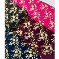 Embroidered 48 Inch Designer Velvet Fabric, For Garments