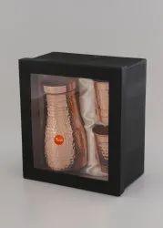 Indiawala Corrugation Window Box Copper Tumbler Jug Set