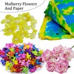 Justkraft Mulberry Flowers Single Colour & Multicolor For Decoration