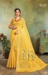 Festive Wear Designer Polyester Cotton Saree