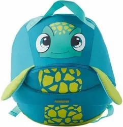 Micro Twill Fabric Blue And Yellow Coodle 01 American Tourister Backpacks, Number Of Compartments: 2