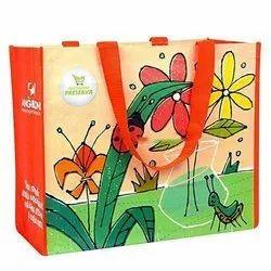 Printed PP Woven Laminated Loop Handle Bag, Capacity: 20 kg