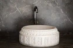 Capstona White Marble Wash Basin