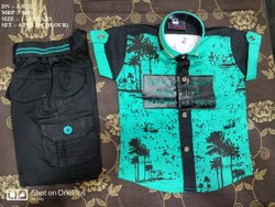 VERY STYLISH FANCY DESIGN SHIRT & PANT SET FOR BOYS