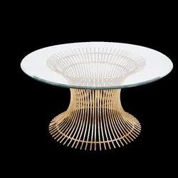 Standard Golden Steel Wire Round Table