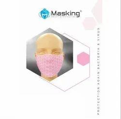 Masking Baby Pink Reusable 3 Layered Face Mask