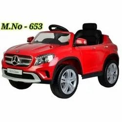 Plastic 653 Kids Battery Operated Red Car
