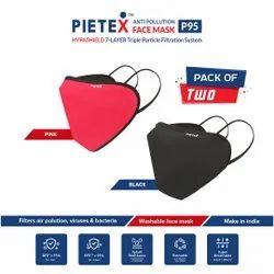 Pietex Reusable P95 Mask, Number of Layers: 7 Layers