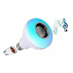 ABS Round LED Music Light Bulb With Bluetooth Speaker, For Home