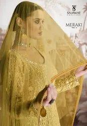 Sajawat Creation Meraki Vol-4 Georgette Readymade Salwar Kameez Catalog